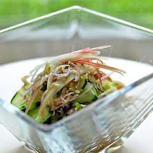 ミョウガの薬味サラダ