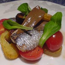 鰯のサッパリ温製サラダ