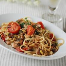 トマトとイワシのシチリア風パスタ