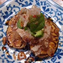 加茂なす(米茄子)のニンニク醤油焼き