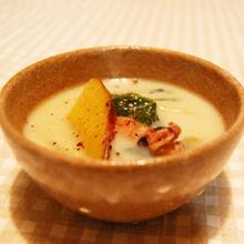 さつまいもと小松菜のソイスープ