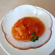 お手軽 熟れ柿のシャーベット