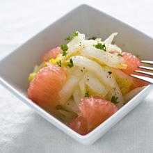 美容サラダ。グレープフルーツと白菜のマリネ
