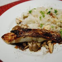 洋風鯛飯 鯛のグリルバルサミコソース