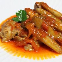 鶏肉と新ごぼうのカチャトーラ風