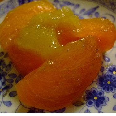 柿の林檎ジャムマリネ