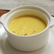 シンプル昆布だしの冷製コーンスープ