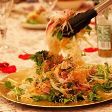 真鯛刺身の中華サラダ