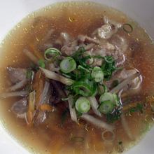 牛蒡と鶏肉のスープ