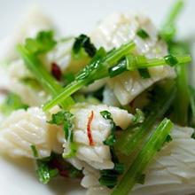 イカとセロリの生姜風味冷菜