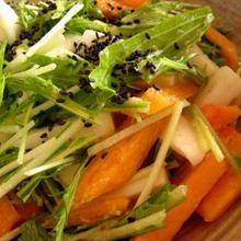 長いもと柿のサラダ