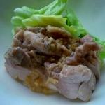 蒸し鶏の棒棒鶏(バンバンジー)ソース