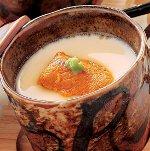 海鮮入り冷たい豆乳茶碗蒸し