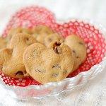 ハート形のチョコクッキー