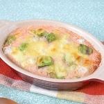 アボカドと長芋の明太クリームグラタン