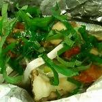 秋刀魚の梅風味ホイル焼き
