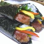 ステーキ手巻き寿司