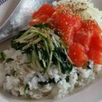サーモンと水菜のサラダ寿司