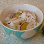 夏のさつま芋と蓮根の炊き込みごはん