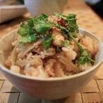 蛸とごぼうの炊き込みご飯