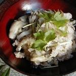 牡蠣と舞茸の炊き込みご飯