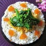 春野菜のちらし寿司 ミモザ仕立て